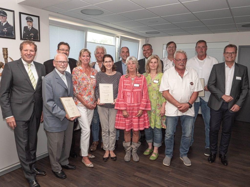 Zahlreiche Ehrungen für langjährige Mitgliedschaften und ehemalige Vorstandsmitglieder (c) Sylt Connected